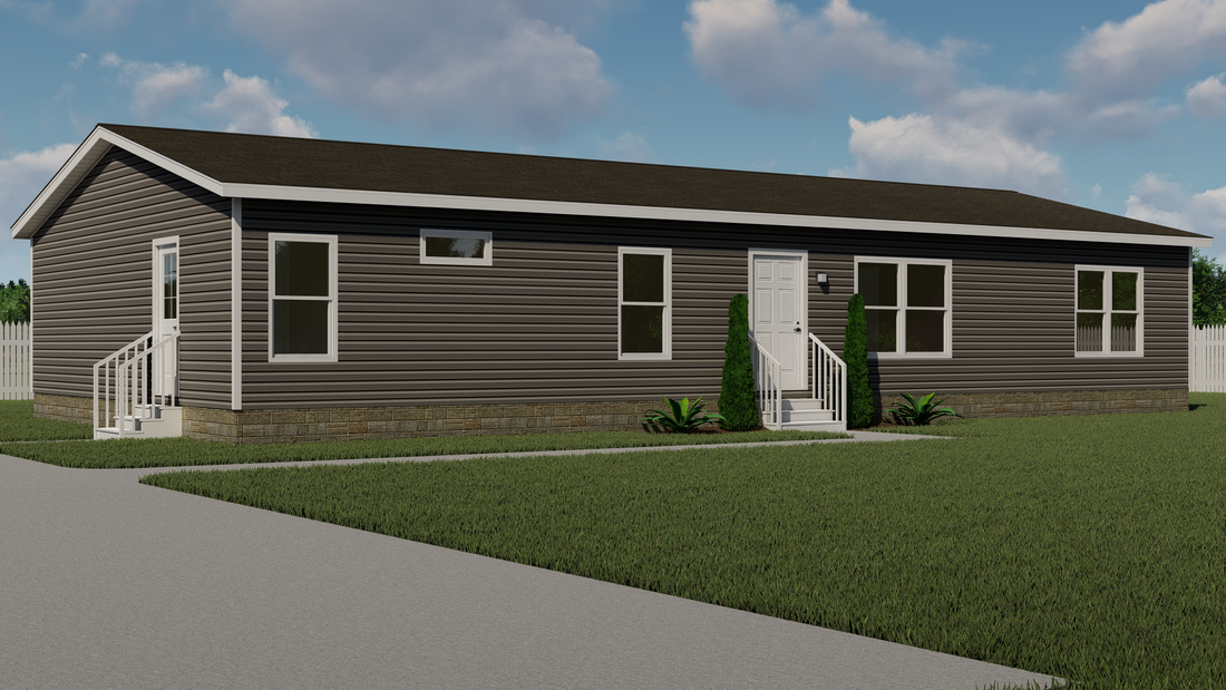 The THE DAYTONA 32 Exterior. This Manufactured Mobile Home features 4 bedrooms and 2 baths.