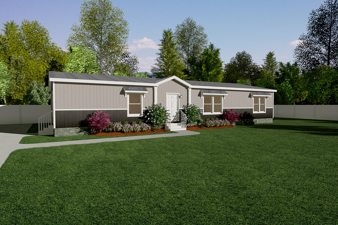 The THE SUPER HOUSTON 32 Exterior. This Manufactured Mobile Home features 4 bedrooms and 2 baths.