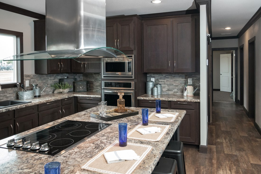 The THE NILE Kitchen. This Manufactured Mobile Home features 3 bedrooms and 2 baths.
