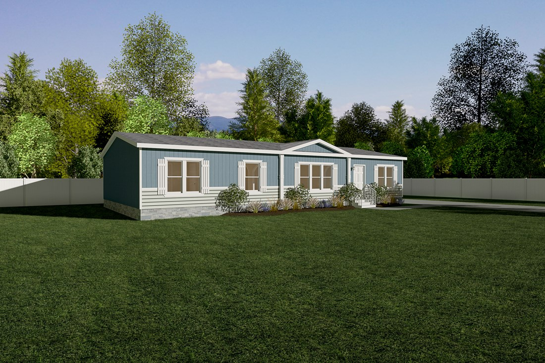 The THE CLASSIC Exterior. This Manufactured Mobile Home features 3 bedrooms and 2 baths.