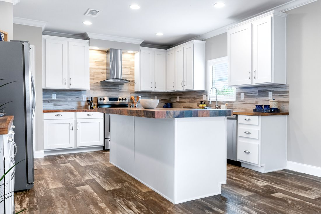 The THE ATLANTA-2 Kitchen. This Manufactured Mobile Home features 3 bedrooms and 2 baths.