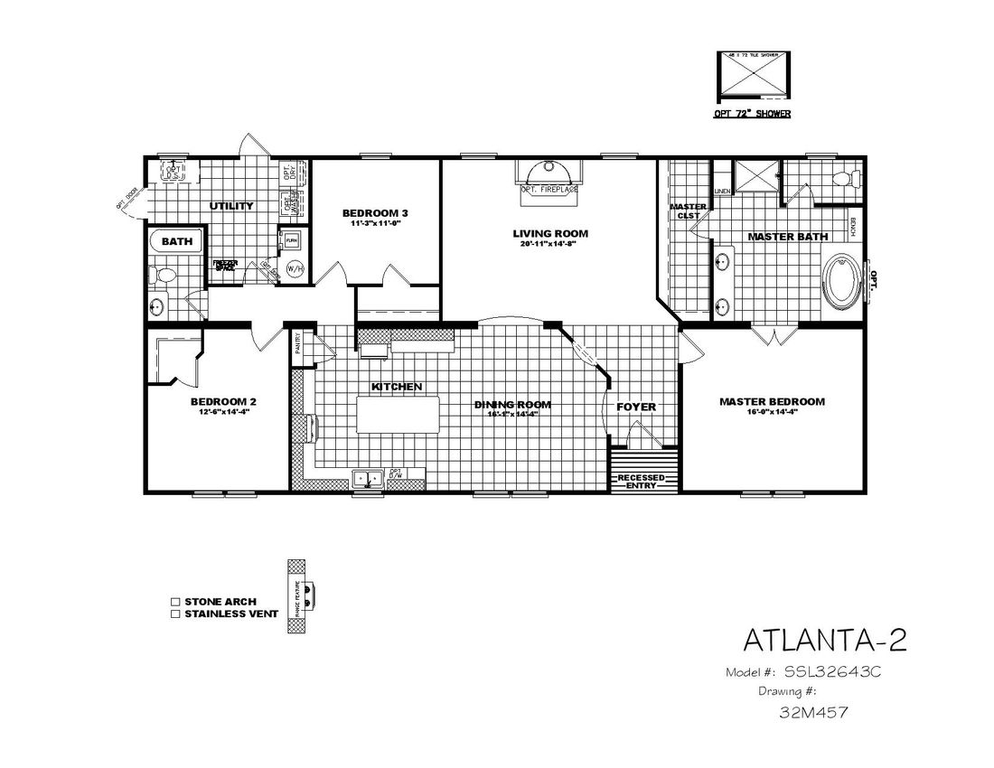 The THE ATLANTA-2 Floor Plan