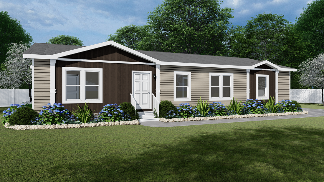 The THE TAHOE Exterior. This Manufactured Mobile Home features 3 bedrooms and 2 baths.