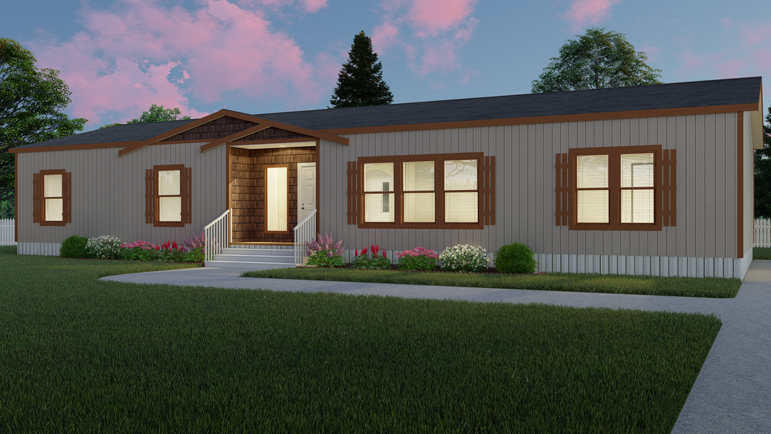 The THE BILOXI Exterior. This Manufactured Mobile Home features 3 bedrooms and 2 baths.
