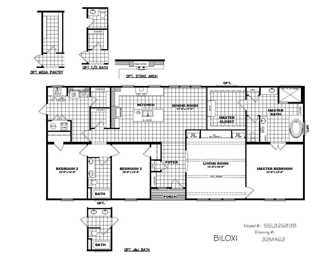 The THE BILOXI Floor Plan