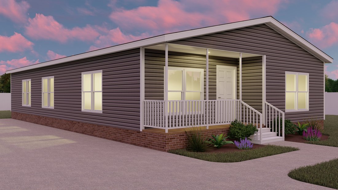 The THE NELSON 32 Exterior. This Manufactured Mobile Home features 3 bedrooms and 2 baths.