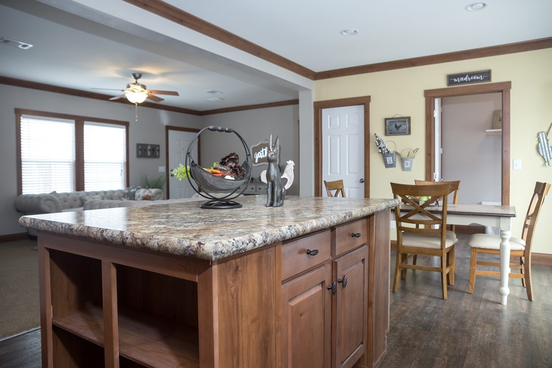 The THE FRANKLIN 28 Kitchen. This Manufactured Mobile Home features 4 bedrooms and 2 baths.
