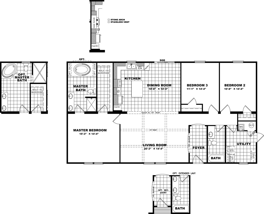 The THE STRETCH FRIO 32 Floor Plan