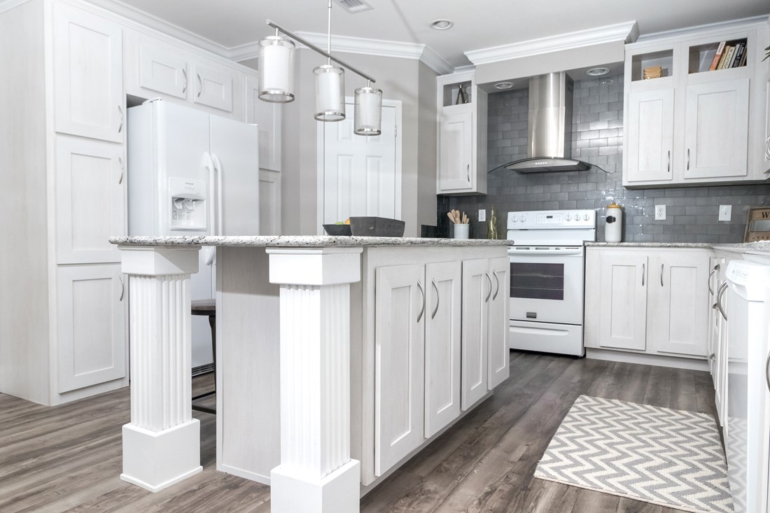 The THE AMAZON Kitchen. This Manufactured Mobile Home features 3 bedrooms and 2 baths.