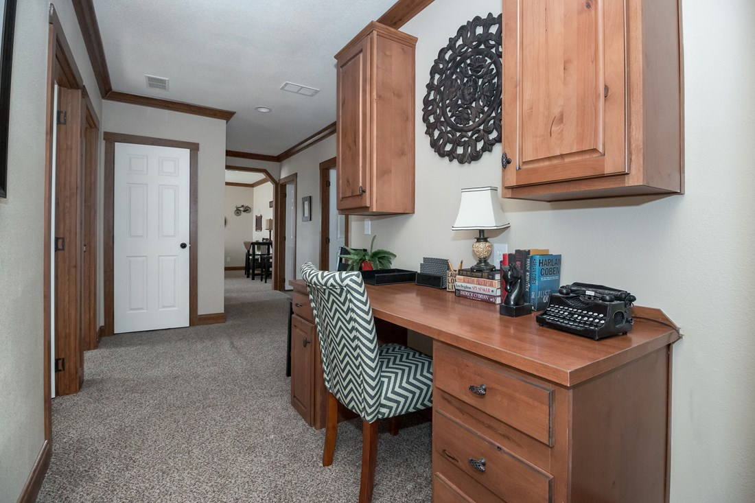The THE OHIO Study Nook. This Manufactured Mobile Home features 4 bedrooms and 2 baths.