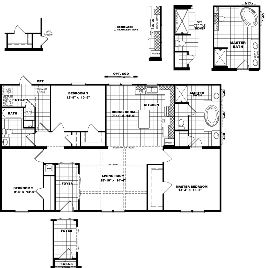 The THE HOUSTON 32 Floor Plan