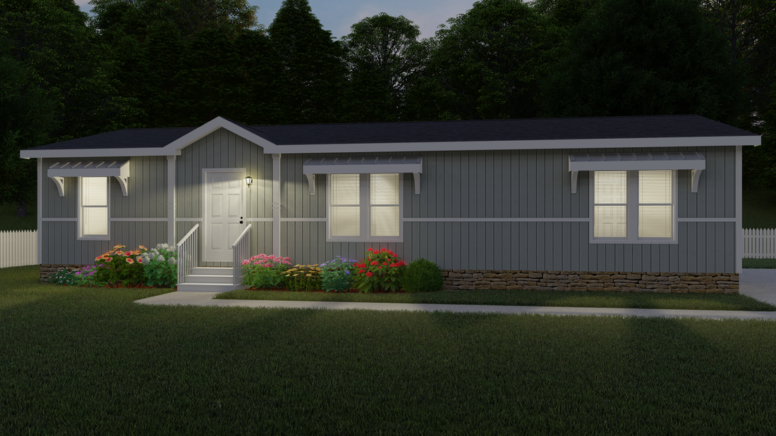The THE HOUSTON 32 Exterior. This Manufactured Mobile Home features 3 bedrooms and 2 baths.