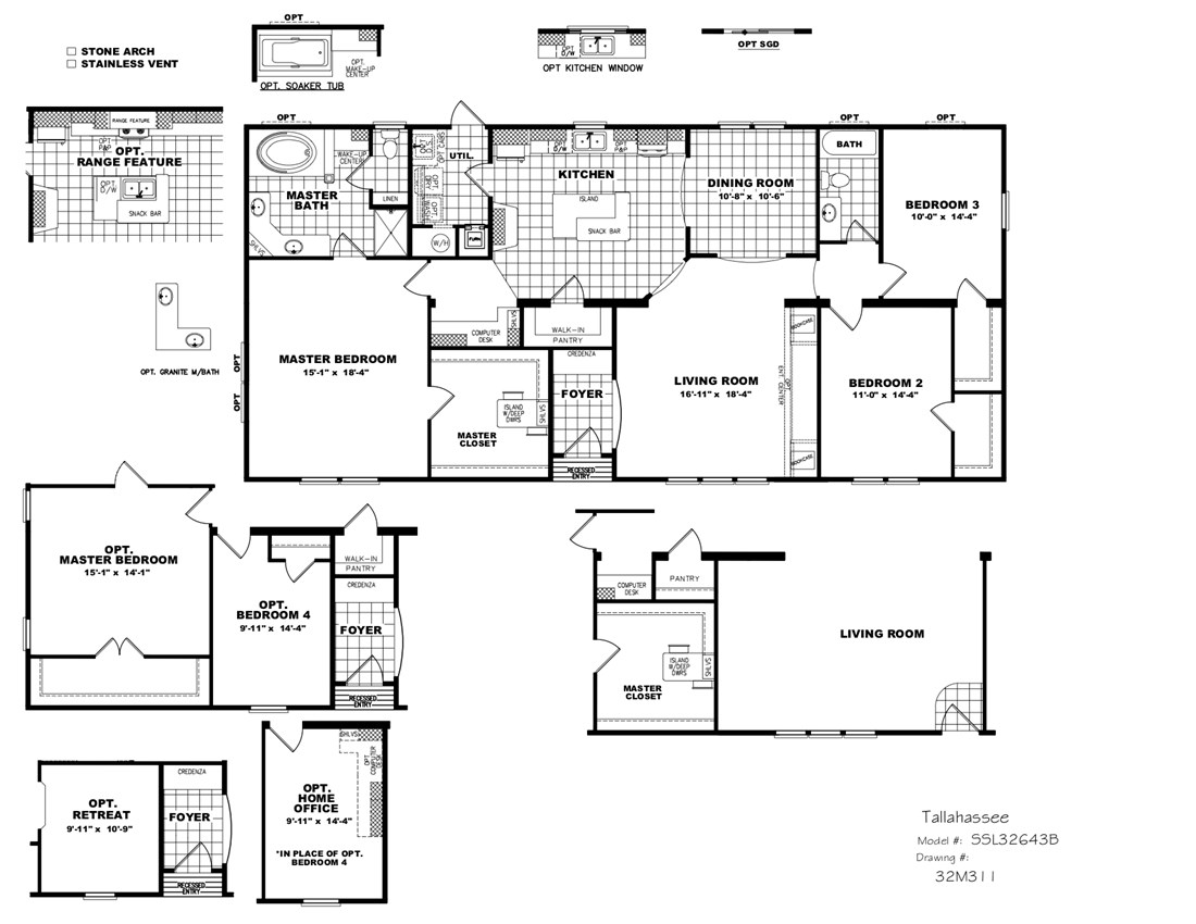 The THE TALLAHASSEE Floor Plan