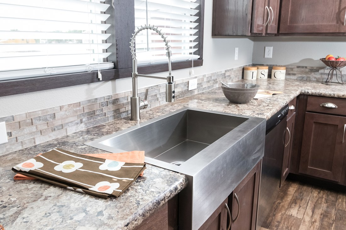 The THE PHOENIX Kitchen. This Manufactured Mobile Home features 4 bedrooms and 2 baths.