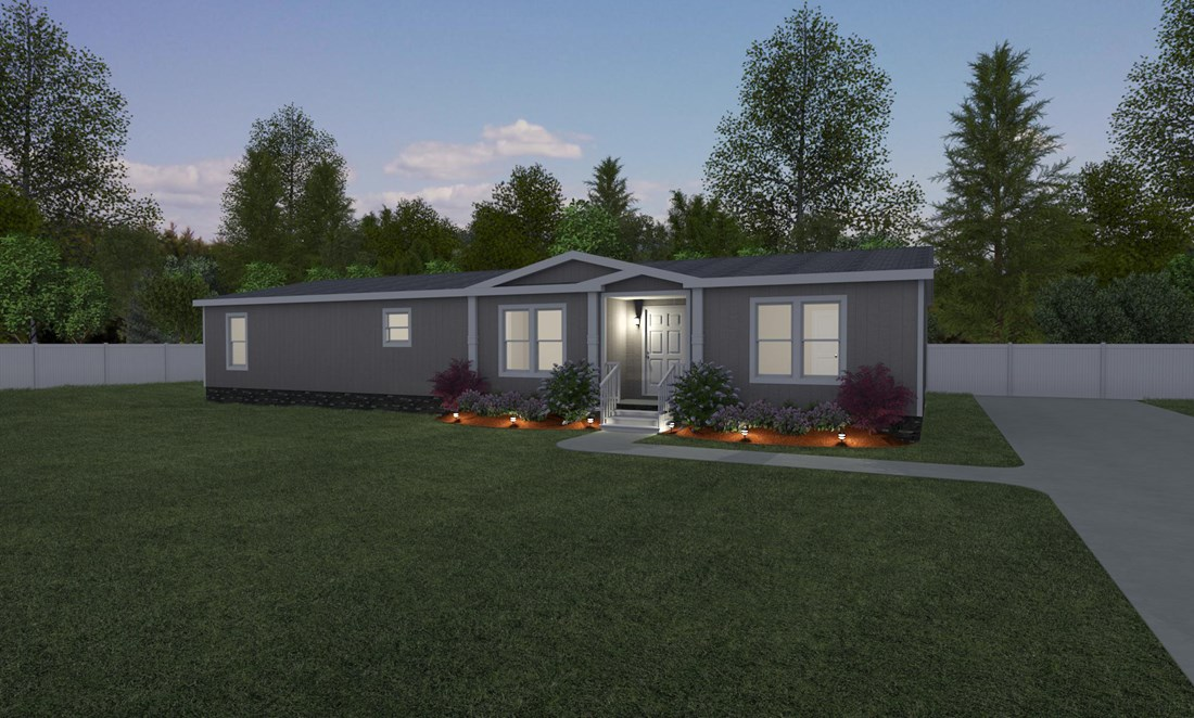 The THE MARIETTA Exterior. This Manufactured Mobile Home features 4 bedrooms and 2 baths.